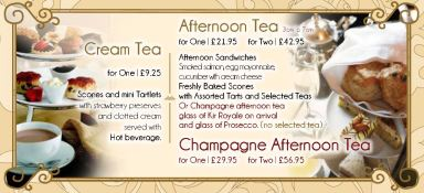 Afternoon Tea Menu